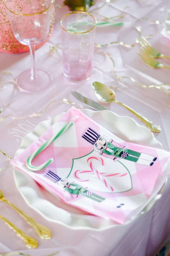 My pink Christmas tablesetting