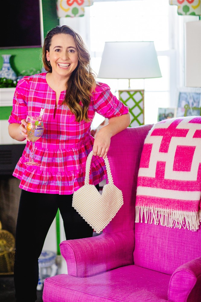 Pink Plaid Birthday Outfit